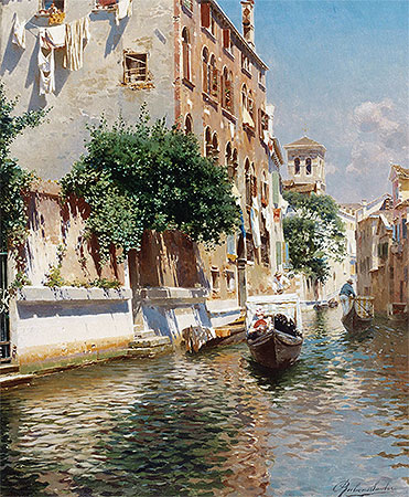 St. Apostoli Canal, Venice, undated | Rubens Santoro | Painting Reproduction