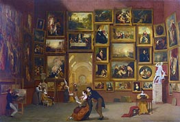Samuel Morse | Gallery of the Louvre, c.1831/33 | Giclée Canvas Print