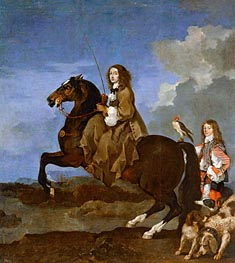 Sebastien Bourdon | Christina of Sweden on Horseback, undated | Giclée Canvas Print