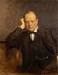 Sir Winston Churchill, Statesman, c.1918/30 by Sir James Guthrie | Giclée Canvas Print