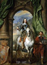 van Dyck | Charles I with M. de St Antoine, 1633 | Giclée Canvas Print