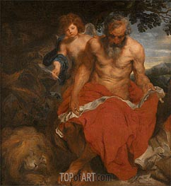 van Dyck | St Jerome, Undated | Giclée Canvas Print