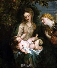 van Dyck | Virgin and Child with Saint Catherine of Alexandria, undated | Giclée Canvas Print