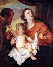 van Dyck | Holy Family, c.1626/28 | Giclée Canvas Print