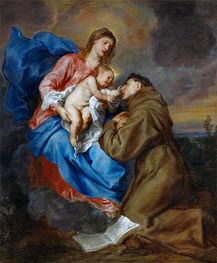 van Dyck | Virgin and Child with Saint Anthony of Padua, c.1629 | Giclée Canvas Print