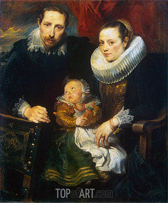 Family Portrait (Jan Wildens Family), c.1619 | van Dyck | Painting Reproduction
