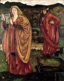 Burne-Jones   Merlin and Nimue, 1861   Giclée Canvas Print