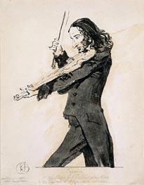 Landseer   Niccolo Paganini Playing the Violin   Giclée Canvas Print