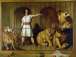 Landseer   Portrait of Mr Van Amburgh as he Appeared with his Animals at the London Theatre   Giclée Canvas Print