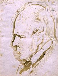 Landseer   Portrait Sketch of Sir Walter Scott   Giclée Canvas Print