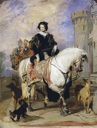 Landseer | Queen Victoria on Horseback, c.1838 | Giclée Canvas Print