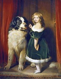 Landseer | Princess Mary Adelaide of Cambridge with 'Nelson' a Newfoundland Dog, c.1839 | Giclée Canvas Print