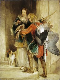 Landseer | The Falcon, c.1834 | Giclée Canvas Print