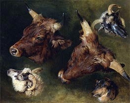 Landseer | Studies of Cattle and Sheep, 1868 | Giclée Canvas Print