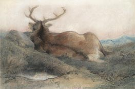 Landseer | A Stag at Tarbet, 1858 | Giclée Paper Print