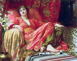 Frank Dicksee | Leila (Passion), 1892 | Giclée Canvas Print