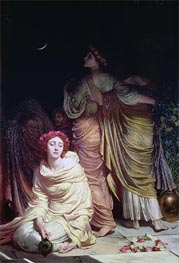 Frank Dicksee   'Too late! Too late! Ye cannot enter now!', The Foolish Virgins, 1883   Giclée Canvas Print