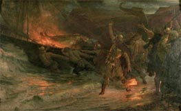 Frank Dicksee   The Funeral of a Viking, 1893   Giclée Canvas Print