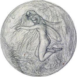Joseph Noel Paton | Study of a Fairy | Giclée Canvas Print