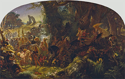 The Fairy Raid: Carrying off a Changeling - Midsummer Eve, 1867   Joseph Noel Paton   Painting Reproduction