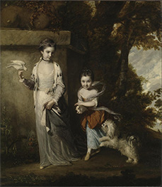 Portrait of the Ladies Amabel and Mary Jemima Yorke, c.1761 by Reynolds | Giclée Canvas Print