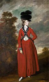 Reynolds | Portrait of Lady Worsley, 1776 | Giclée Canvas Print