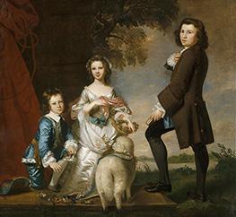 Reynolds | Thomas and Martha Neate with His Tutor, Thomas Needham, 1748 | Giclée Canvas Print