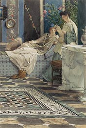Alma-Tadema | From an Absent One, 1871 | Giclée Paper Print