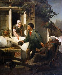 Alma-Tadema | The Blind Beggar, 1856 | Giclée Canvas Print