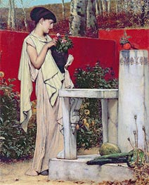 Alma-Tadema | Woman with a Vase of Flowers, Undated | Giclée Canvas Print