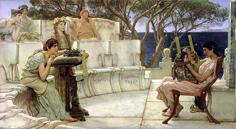 Sappho and Alcaeus, 1881 | Alma-Tadema | Painting Reproduction