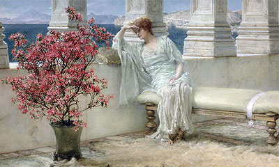 Her Eyes are with Her Thoughts and They are Far Away, 1897 | Alma-Tadema | Painting Reproduction