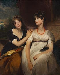 Portrait of Charlotte and Sarah Carteret-Hardy, 1801 by Thomas Lawrence | Giclée Canvas Print
