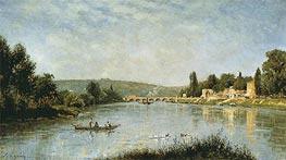 Lepine   The Seine at the Pont de Sevres, c.1876/80   Giclée Canvas Print