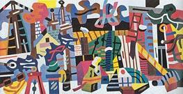 Stuart Davis | Swing Landscape, 1938 | Giclée Canvas Print