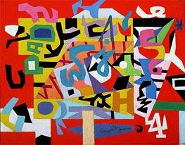 Stuart Davis | Pad No. 4, 1947 | Giclée Canvas Print