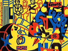 Stuart Davis | Tropes de Teens , 1956 | Giclée Canvas Print
