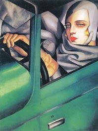 Lempicka | Autoportrait (Tamara in the Green Bugatti), 1925 by | Giclée Canvas Print