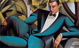 Lempicka | Portrait of the Marquis d'Afflito, 1925 | Giclée Canvas Print