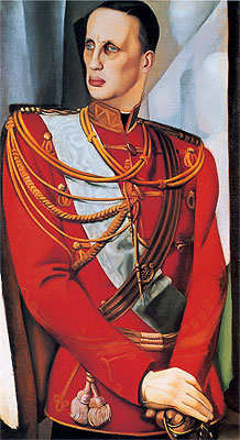 Portrait of His Imperial Highness Grand Duke Gavriil Kostantinovic, 1927 | Lempicka | Painting Reproduction