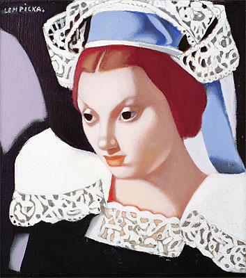 Young Breton Girl, 1975 | Lempicka | Painting Reproduction