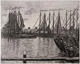 Rysselberghe   Bateaux de Peche   Giclée Canvas Print
