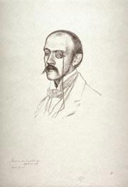 Rysselberghe   Portrait of a Man with a Monacle (Henri Regnier)   Giclée Canvas Print
