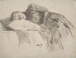 Rysselberghe   Young Girl Reclining   Giclée Canvas Print