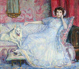 Rysselberghe | The Lady in White (Portrait of Madam Helen Keller) | Giclée Canvas Print