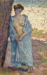 Rysselberghe | Young Woman In The Blue Peignoir | Giclée Canvas Print