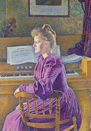 Maria Sethe at the Harmonium, 1891 by Rysselberghe | Giclée Canvas Print