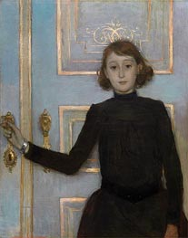 Portrait of Margueritte van Mons, b.1926 by Rysselberghe | Giclée Canvas Print