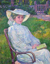 Lady in White (Portrait of Mrs. Theo Van Rysselberghe), 1926 by Rysselberghe | Giclée Canvas Print