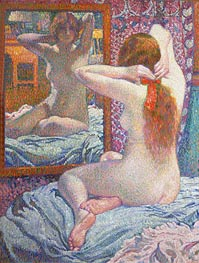 Rysselberghe | Nude Girl in Front of the Mirror, 1900 | Giclée Canvas Print
